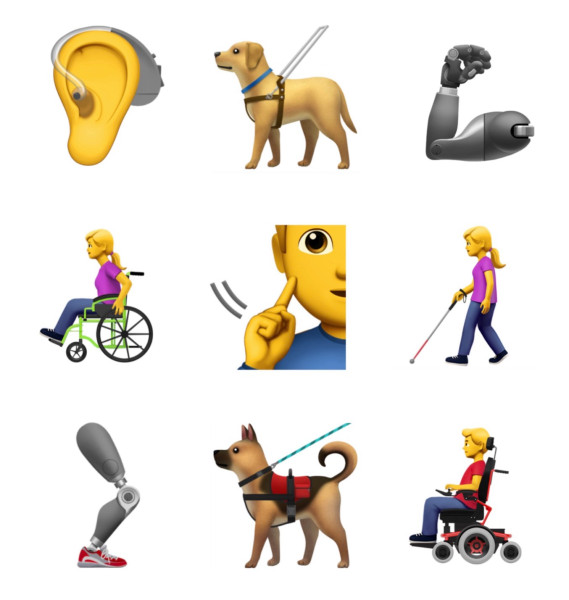 Emoticon apple disabilità