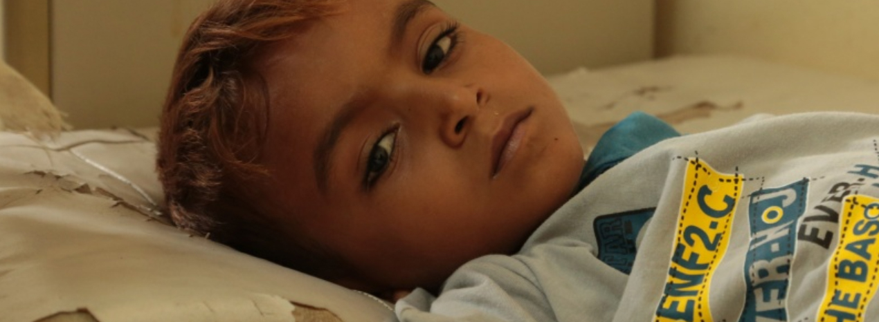Yemen, bambino all'ospedale - Foto Save the children
