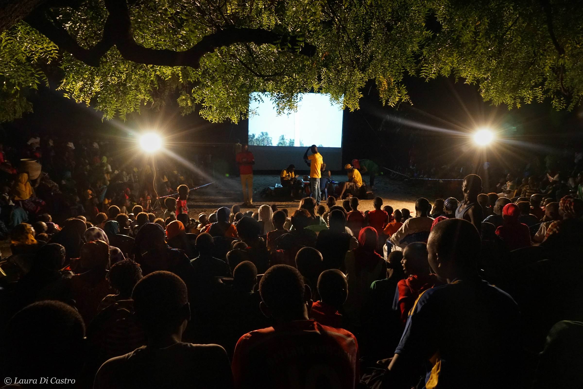 Cinema all'aperto in Africa