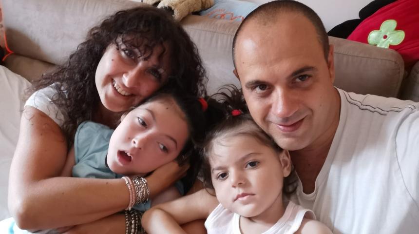 Matilde e Margherita con i genitori