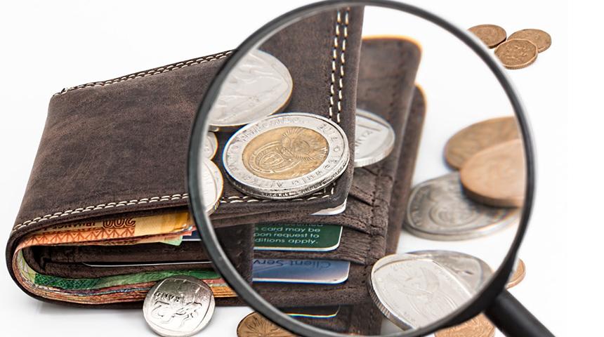 Lente di ingrandimento su monete euro - Economia, povertà (Foto da pixabay)