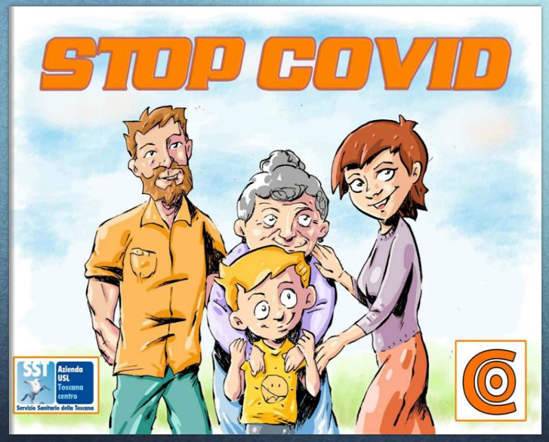 Stop covid - Copertina fumetto